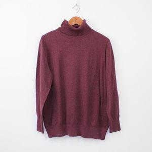 L.L. Bean cashmere & cotton turtle neck sweater